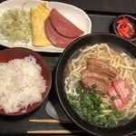 琉の介 - 沖縄そば定食@780円