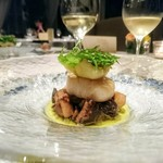 90583802 - 温前菜はホタテ貝のソテー