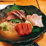Yoshizakishokudou - 刺身3種盛り