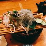 Yoshizakishokudou - 白魚の刺身