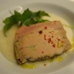 リストランテ・マッサ - 桃のスープに浮かべたフォアグラのテリーヌ