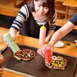 お好み焼き・一銭洋食 福○ -