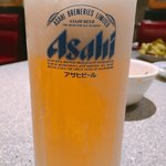 東海苑 - 生ビール アサヒスーパードライ 中 610円