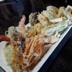 そば屋しみず - 海老野菜の天ぷら