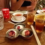 ツナパハ+2 - 食後のドリンク(紅茶)とヨーグルトアイスクリーム