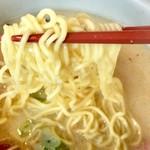 らーめん山頭火 - 麺は「中細の縮れ麺」です…