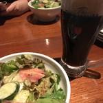 THE RIGOLETTO OCEAN CLUB - セットのサラダに黒ビール 「ねぇ、黒ビールって納豆臭くない?」