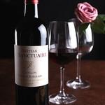 こぼれそうなワイン赤・白