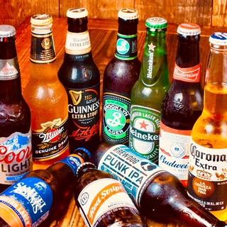 世界各国のビールをはじめ、ドリンクの種類多彩◎皆で飲める★