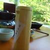 日本料理 京都 華暦 - 料理写真:定番の天然水と奥に控えるカセットコンロ