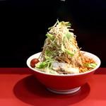千里眼 - 冷やし中華・麺半分・野菜増し・ニンニク・辛揚げ・850円