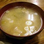 田幸 - 昼定食のとん汁