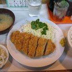 吉村屋 - ・「重ね豚バラとんかつ定食(\780)」