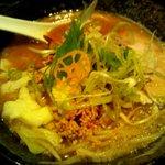 麺処 蓮海 - 鮪豚骨麺 味噌@750円(2011.8)