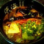 麺処 蓮海 - 塩つけ麺のつけ汁(2011.8)