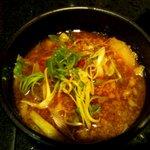 麺処 蓮海 - 醤油つけ麺のつけ汁(2011.8)