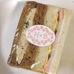 HARU*BOUZ - ツナおからとハムチーズサンドイッチ