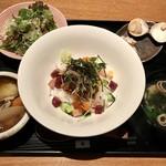 焼はまぐりる - 穴子といくらの海鮮バラちらし丼1200円