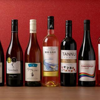 ワインやスパークリング、サワーまで種類豊富にご用意