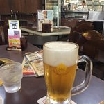 90609171 - 2018年8月。サッポロ生ビール黒ラベル中ジョッキ800円。