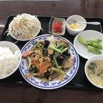 中国家庭料理 豊澤園 - 日替ランチ・豚肉、キクラゲ、玉子炒め