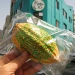 メロンパン - カスタードクリームのメロンパン、税込180円