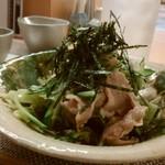 酒と肴 はち - 料理写真:ゆで豚の海苔ポン酢480円