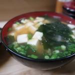 いもや - 天ぷら定食650円のお味噌汁