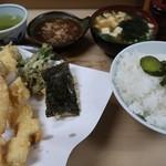 いもや - 天ぷら定食650円