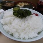 いもや - 天ぷら定食650円のご飯