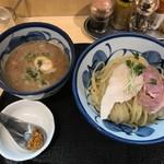 たけもと - 【鶏と魚介の煮玉子つけ麺…950円】◎2018/7