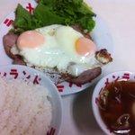 らーめんランド - 料理写真:チャーシュー目玉焼き定食