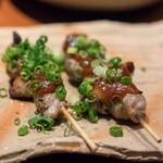 博多前炉ばた 一承 - 2018.8 丸腸ねぎ味噌焼き(250円)