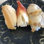 回転寿司 魚どんや - 貝三昧 480円