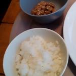博多フードパーク 納豆家 粘ランド - ご飯と納豆