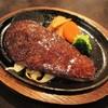ステーキのあさくま - 料理写真:学生ハンバーグ 1,680円(サラダバー付き・税込)。      2018.07.30