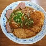 浅月 - カツそば(半麺) 800円