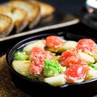 一風変わった和の味覚「明太子と長芋の和ヒージョ」