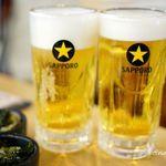 魚○本店 - 生ビール
