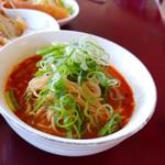 味苑 - ミニ担々麺。麺がメチャクチャ細かった!!