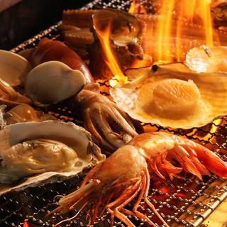 北海道直送!季節の旨いものを炉端焼きでお楽しみください