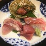90648850 - お造り定食(*´ω`*)黒鯛 マグロ ハマチ