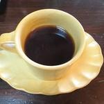 山ぶどう農園 野の香 - セットで付くドリンク、今回はホットコーヒーをチョイス(セットメニューで700円)
