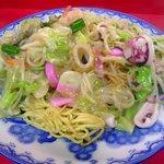 香蘭 - 皿うどん(太麺,大盛り):950円
