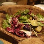 ヤサイ ホリ - ナスと牛肉のサラダ