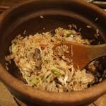 ヤサイ ホリ - 鯖とミョウガの炊き込みご飯