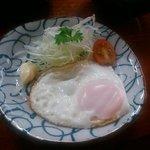 山中荘 - 朝食 フライエッグ