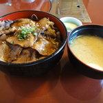 和風創作料理だいご - 牛タン炙り焼き丼\1000
