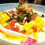 らー麺 あけどや - フレッシュ野菜のポタージュ麺 1000円