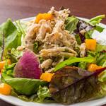 バジルチキンとグリーン野菜のサラダ